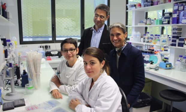 Marie-Dominique Galibert et David Gilot au côté de Mélodie Migault et Laura Bachelot-Perrot (au premier plan). crédit photo : Nathalie Blanc